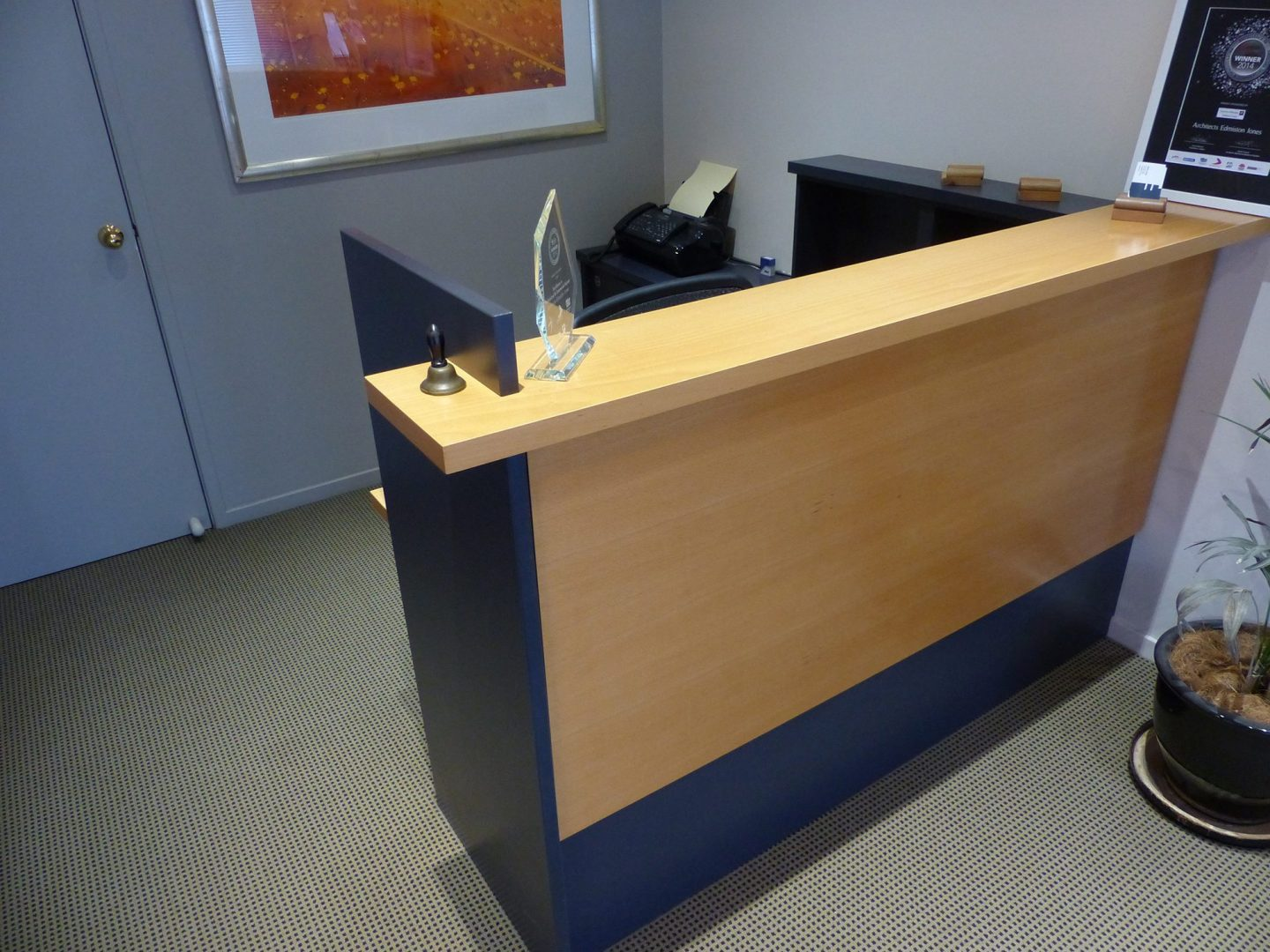 Reception desk before the transformation